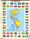 Map of The Americas with Flags- Frame/Board Jigsaw Puzzle 29cm x 37cm (LRS  KL4-GB)